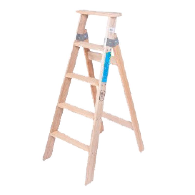 Escalera pintor de madera 5 pelda os escalones tipo tijera mts ramponi - Escalera de pintor de madera ...