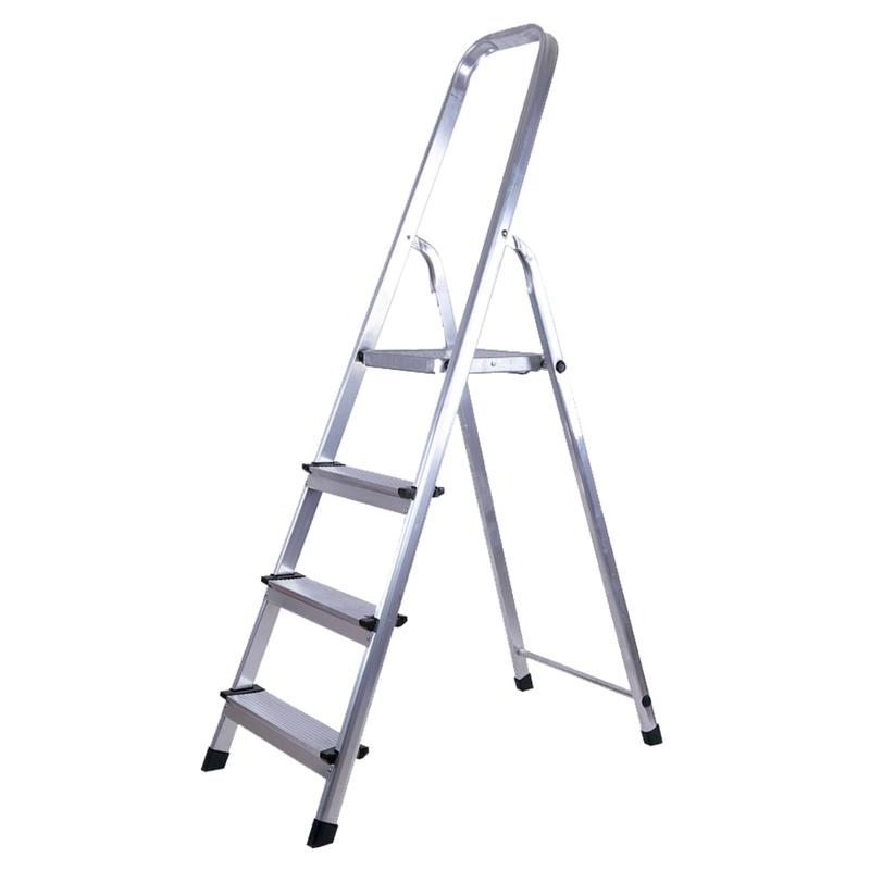 Escalera plegable de aluminio tipo tijera 4 pelda os kld 1751 for Tipos de escaleras de aluminio