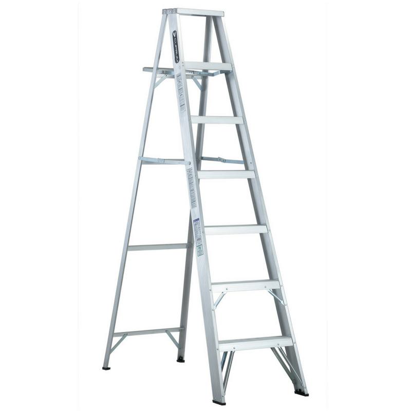 Escalera de aluminio tijera alpina tipo iii 7 escalones for Escaleras 7 escalones