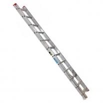 Escalera De Aluminio Extensible Alpina 20 Peldaños 136kgs 5.18mts
