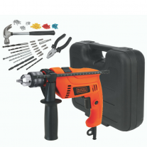 Taladro Percutor 550w + 88 Acc. Black+Decker Hd555k88