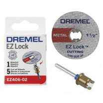 "Kit De Discos De Corte 1 y 1/2"" Dremel + Mandril EZ Lock"