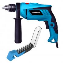 Taladro Gamma 850w 13mm + Kit de 14 puntas