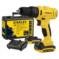 Atornillador Inalámbrico Percutor Stanley SCH12S2K - 12v  + Cargador, Baterías y Maletín