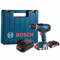 Taladro Atornillador Percutor Bosch Inalámbrico GSB 18V-LI - 18v + 2 Baterías y Maletín