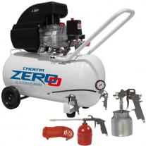 Compresor Zero 50 Litros 2,5 Hp + Kit Para Compreso 5 Piezas