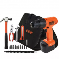 Taladro Atornillador Inalámbrico Black and Decker CD121K-AR 12v + Bolso y acc