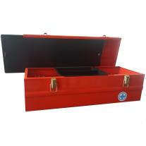 Caja De Herramientas Metálica 500x180x160mm Con Bandeja Interna