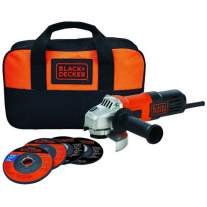 Amoladora Angular 115mm 650w Black & Decker + 4 Discos y Bolso