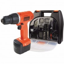 Taladro Atornillador Inalambrico Black and Decker CD121K100 12v 10mm + 100 acc