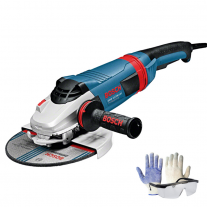 "Amoladora Angular 9"" 230mm 2200w Bosch Gws 22-230 Lvi + Kit de Regalo"
