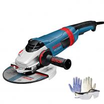 "Amoladora Angular 9"" 230mm 2200w Bosch Gws 22-230 Lvi + Kit de Regalo"