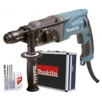 Rotomartillo Makita HR2470X SDS Plus 780W 2.7 Joules 5 Brocas + Maletín De Aluminio
