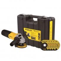 """Amoladora Angular Stanley STGS7115KD 4 1/2"""" 115mm 710w + 5 Discos y Maletín"""