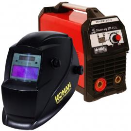 Soldadora Inverter Laser Discovery 200 Amp + Máscara Fotosensible Konan