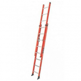 Escalera Dieléctrica Extensible Black&Decker 24 (12+12)  Peldaños 113 kgs 6.40mts