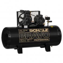 Compresor De Aire Schulz Bravo CSL15BR 3Hp 200Lts Trifásico