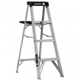 Escalera De Aluminio Tijera Doble Davidson 4 Escalones 1.20mts