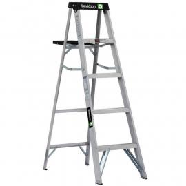 Escalera De Aluminio Tijera Doble Davidson 5 Escalones 1.50mts