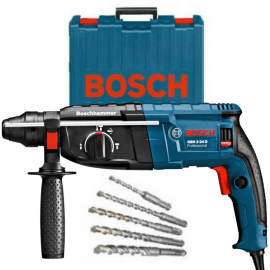 Rotomartillo Percutor Bosch GBH2-24D 820w 2,7 Joules + Maletín y 5 Mechas SDS Plus