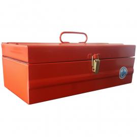 Caja De Herramientas Metálica 400x180x130mm Con Bandeja Interna