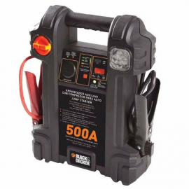 Cargador Arrancador Con Compresor y Luz Led Black Decker JS500 - 500A