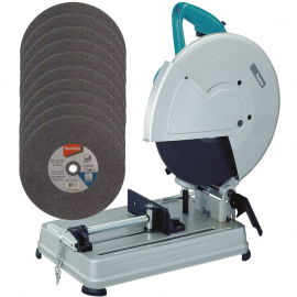 "Sierra Sensitiva 14"" 2000w Makita 2414NB + 10 discos 14"" Makita 10730"