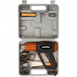 Pistola De Calor 2000w Gamma HG025K + Maletín y Accesorios