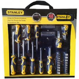 Set De Destornilladores Stanley 48 Piezas