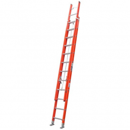 Escalera Dieléctrica Extensible Alpina 32 (16+16) Peldaños 150kgs 8.90mts