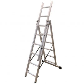 Escalera De Aluminio Extensible 3x7 Escalones