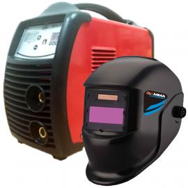 Soldadora Inverter Reymu 200 amp + Máscara Fotosensible Gamma Thunderbolt G3480