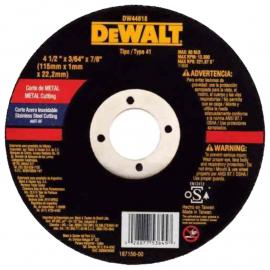 Disco Centro Plano Dewalt 115 X 1.0 X 22 Metal