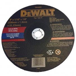 Disco Centro Plano Dewalt 230 X 1.6 X 22 Metal