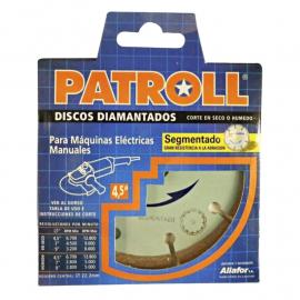 Disco Diamantado Patroll 115mm Segmentado