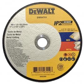 Disco Centro Plano Dewalt Abrasivo 180 X 1.6 X 22.23 Acero Inoxidable y Metal