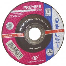 Disco Centro Deprimido Carborundum 115X1.6X22 Premier