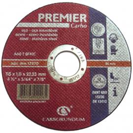 Disco Centro Plano Carborundum 115X1.6X22 Premier