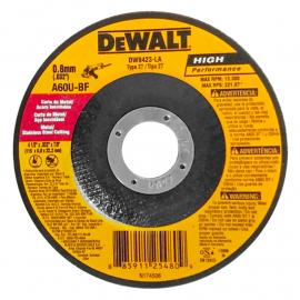 Disco Centro Deprimido Dewalt 115 X 0.8 X 22 Acero Inoxidable y Metal