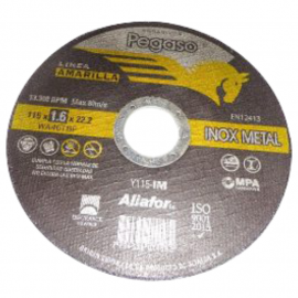 Disco Centro Plano Pegaso Linea Amarilla 115 X1.6 X 22 Metal