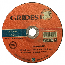 Disco Centro Deprimido Gridest 180X6.4X22