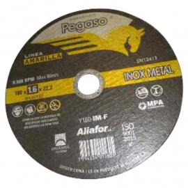 Disco Centro Plano Pegaso Linea Amarilla 180 X1.6 X 22 Metal