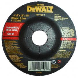 Disco Centor Deprimido Dewalt 115 X 3.2 X 22 Metal