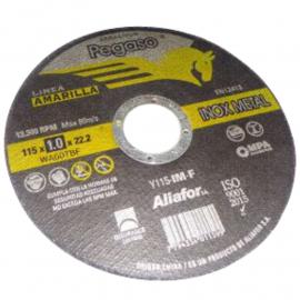 Disco Centro Plano Pegaso Linea Amarilla 115X1X22 Metal