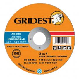 Disco Centro Plano Gridest 115X1.6X22