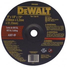 Disco entro Deprimido Dewalt 230 X 3.2 X 22 Metal
