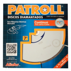 Disco Diamantado Patroll 178mm Continuo