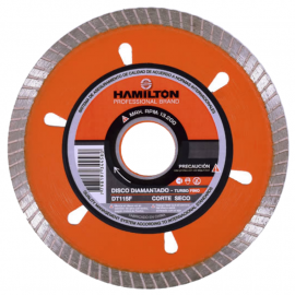 Disco Diamantado Hamilton 115mm Turbo Fino