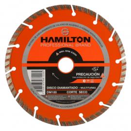 Disco Diamantado Segmentado Hamilton 180mm Multiturbo