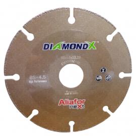 """Disco Diamantado Aliafor  Bs-4.5 Para Corte De Metales 4 y 1/2"""" 115mm"""
